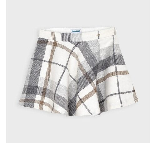 Mayoral 4952 plaid lurex skirt