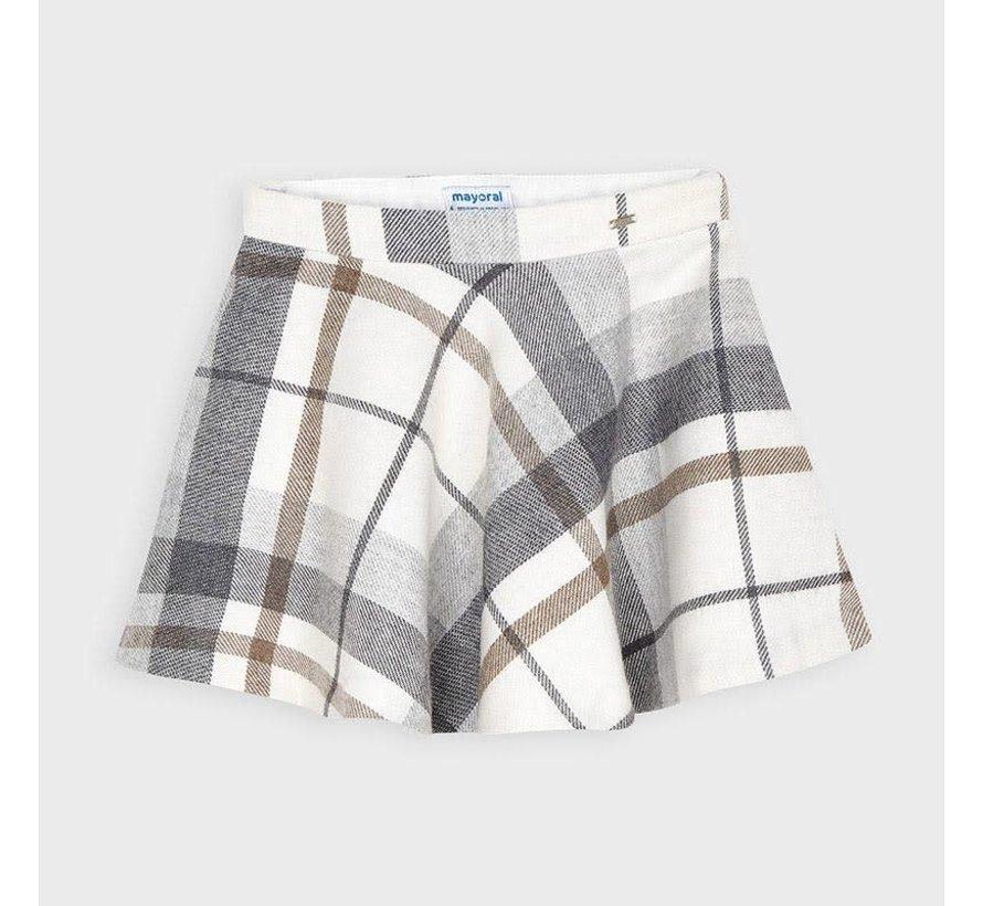 4952 plaid lurex skirt