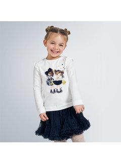 Mayoral 4062 l/s doll shirt