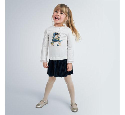 Mayoral 4955 pleated skirt