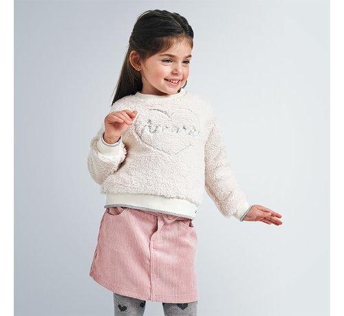 Mayoral 4959 shiny corduroy skirt