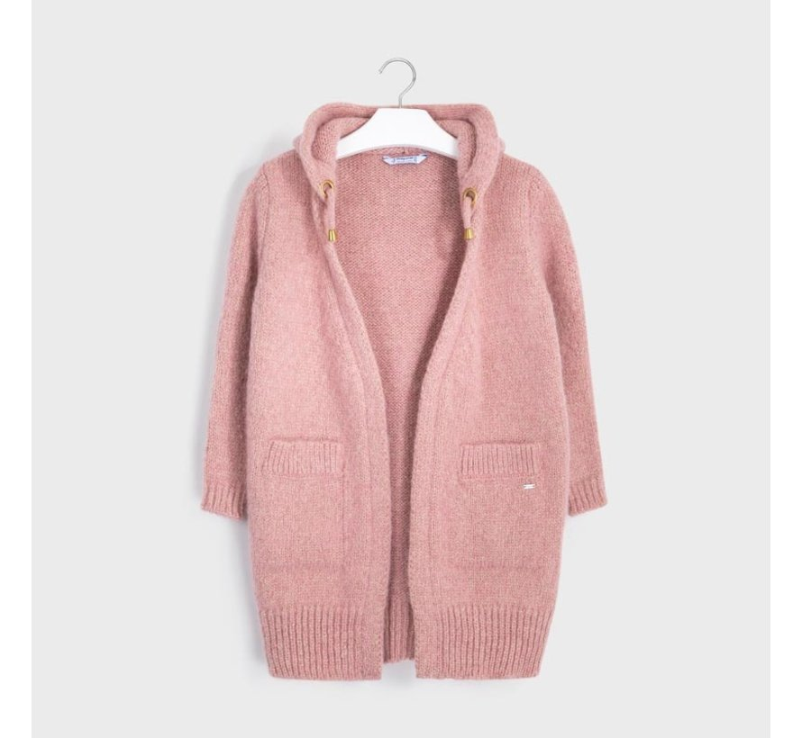 7334 cardigan with hoodie
