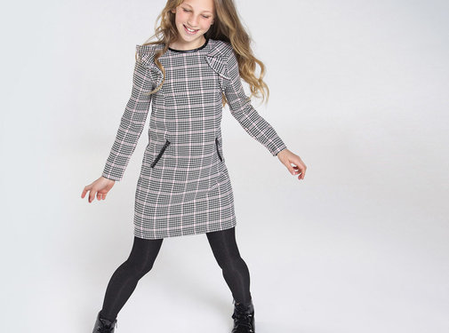 Mayoral 7967 houndstooth check dress