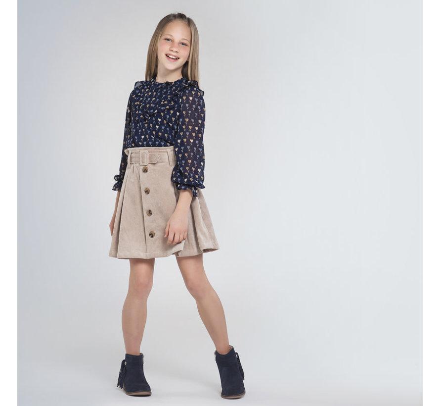 7946 corduroy skirt
