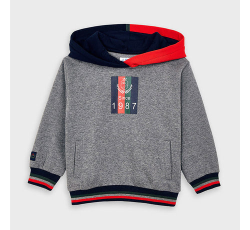 Mayoral 4463 mixed pullover with hoodie