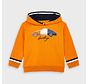 4461 printed pullover with hoodie