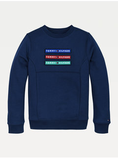 Tommy hilfiger pre KB05805 multi badge velcro sweatshirt