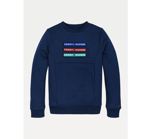 Tommy hilfiger pre KB05805 multi badge velcro sweatshirt