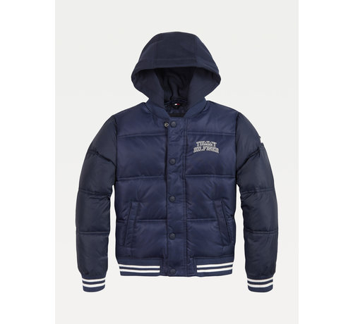 Tommy Hilfiger KB05991 hooded padded quilted bomber