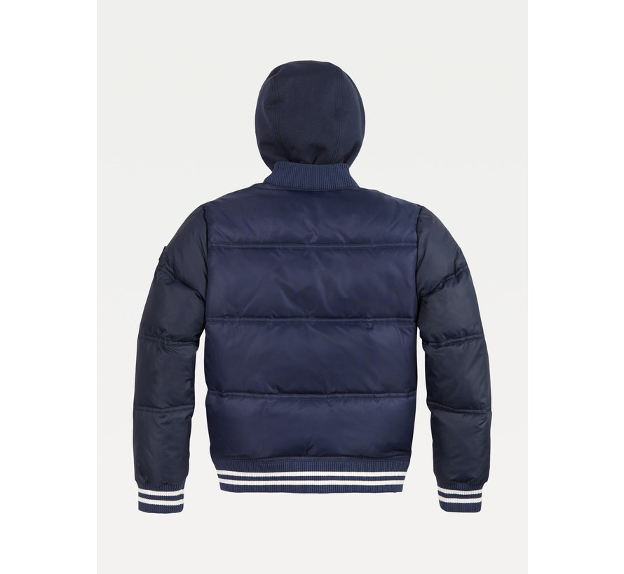 KB05991 hooded padded quilted bomber