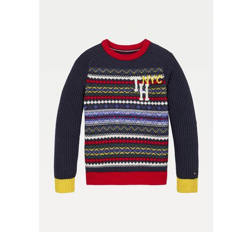 Tommy Hilfiger KB06079 fairisle varsity sweater