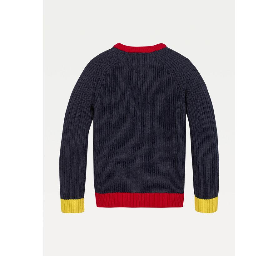KB06079 fairisle varsity sweater