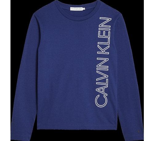 Calvin Klein B00605 reflective lines logo ls t-shirt