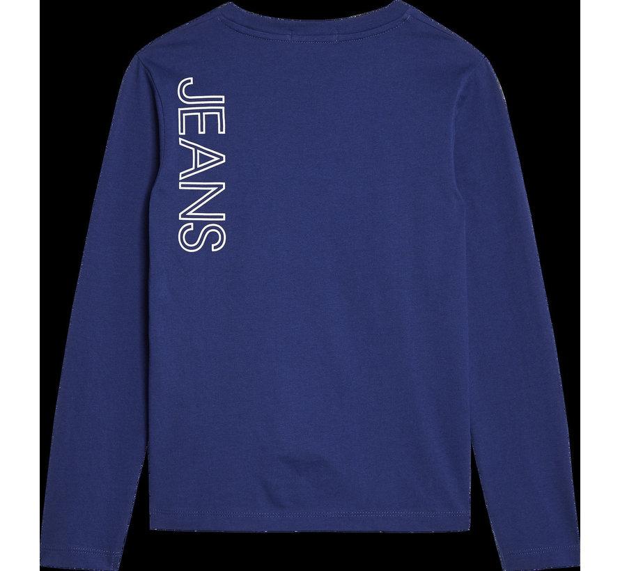 B00605 reflective lines logo ls t-shirt