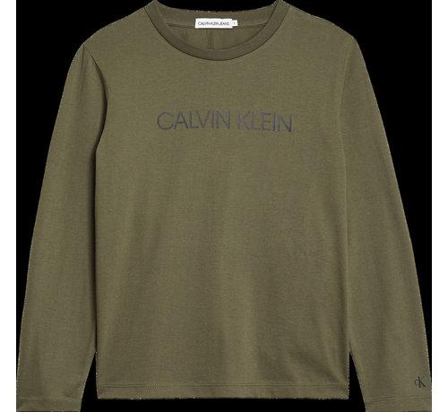 Calvin Klein B00599 institutional ls t-shirt