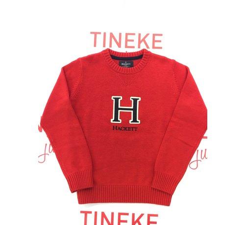 HACKETT HK700739 H logo crew knitwear
