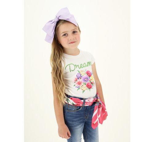 Monnalisa T-shirt C/bouquet