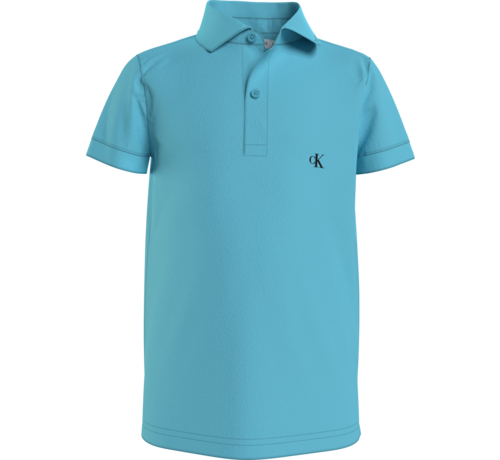 Calvin Klein IB00733 monogram chest fitted polo