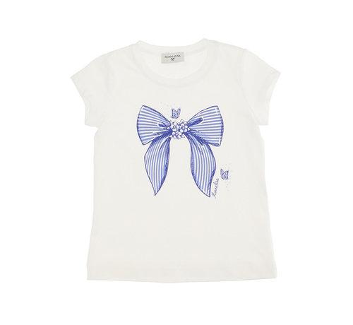 Monnalisa T-shirt st. fiocco
