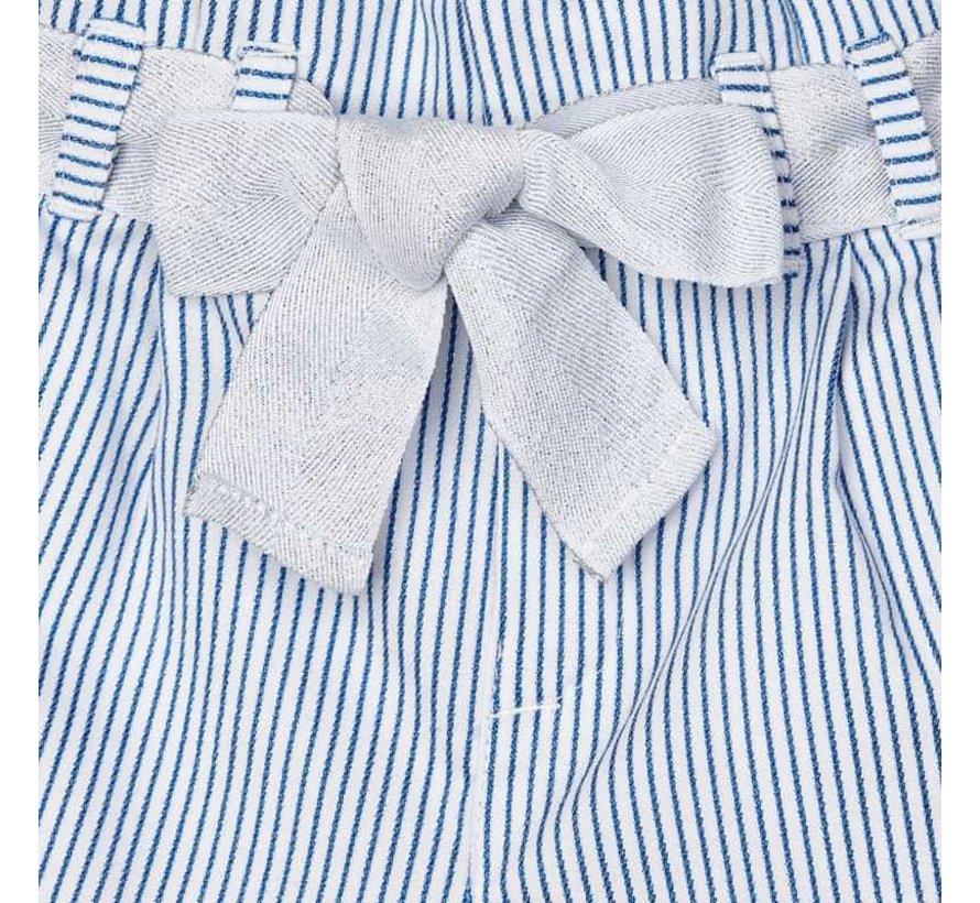 3549 striped lurex long pants