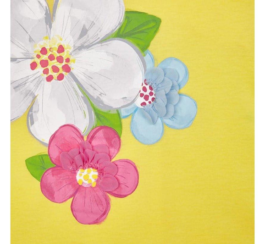 3956 printed dress flower