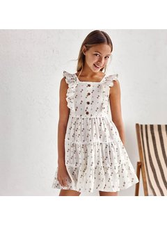 Mayoral 6941 sleeveless printed dress