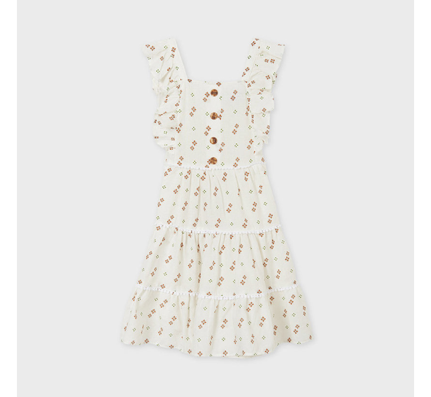 6941 sleeveless printed dress