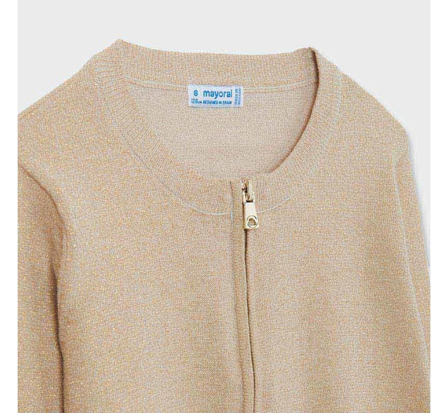 6319 cardigan with zipper
