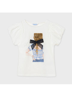 Mayoral 6002 s/s t-shirt girls on back