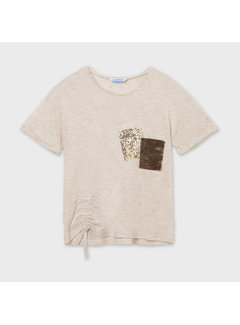 Mayoral 6011 t-shirt with sequin pocket