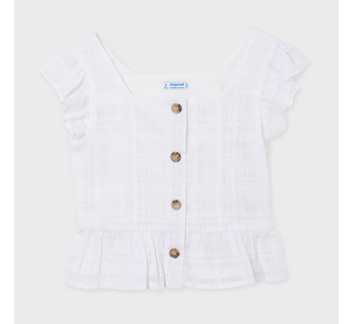 Mayoral 6182 blouse with lurex buttons