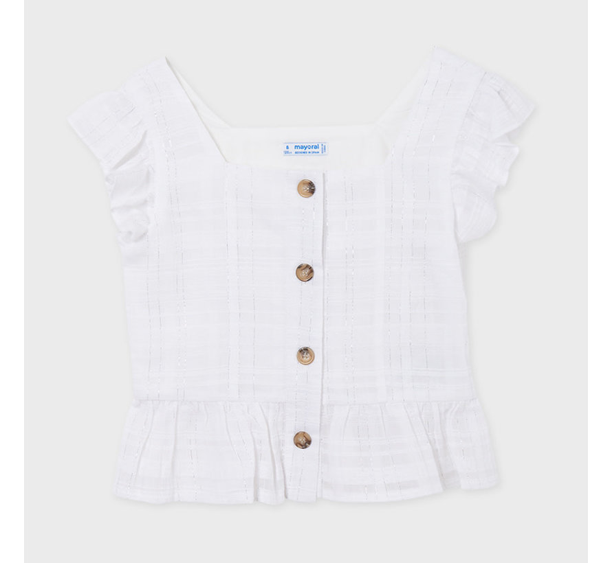 6182 blouse with lurex buttons