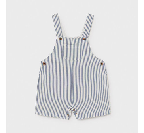 Mayoral 1662 linen striped short overall