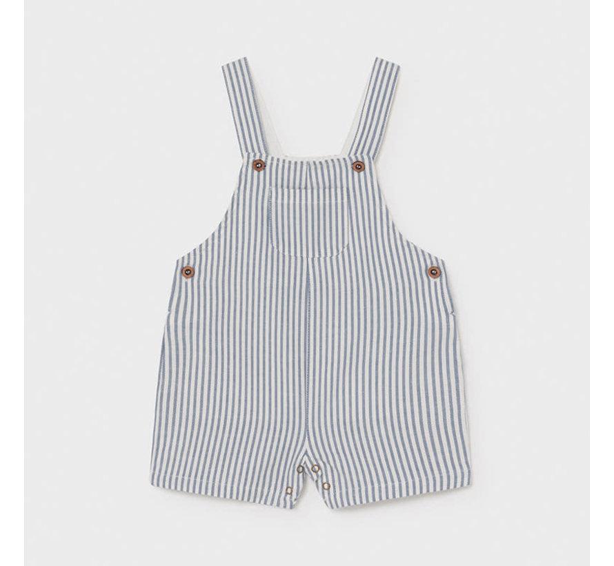 1662 linen striped short overall