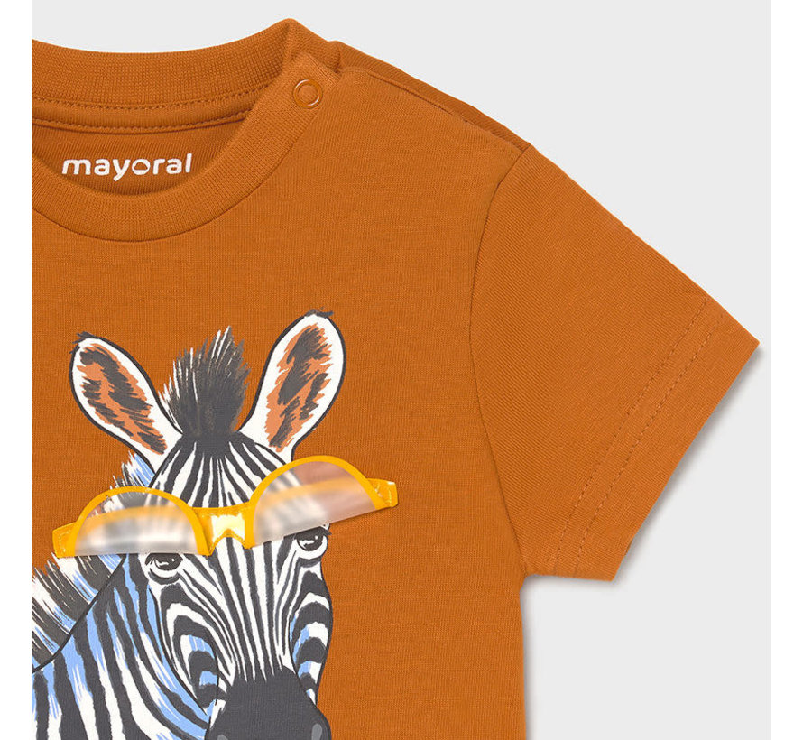 "1001 s/s t-shirt ""play"" zebra"