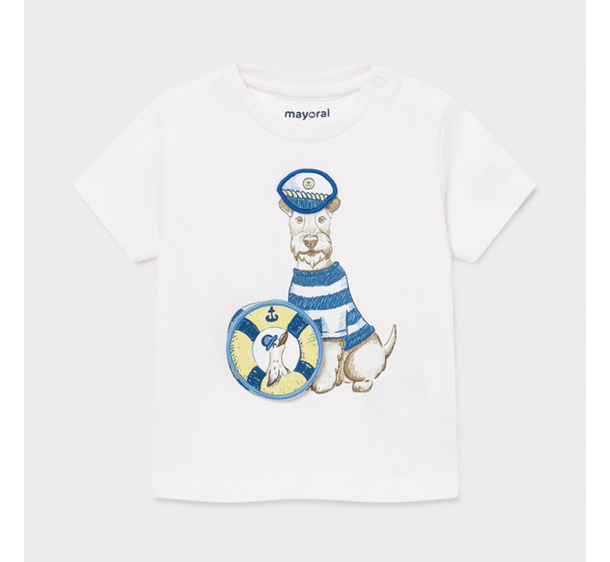 """1007 s/s t-shirt """"play"""" dogs"""