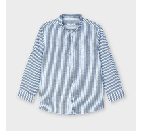 Mayoral 3124 linen striped l/s shirt
