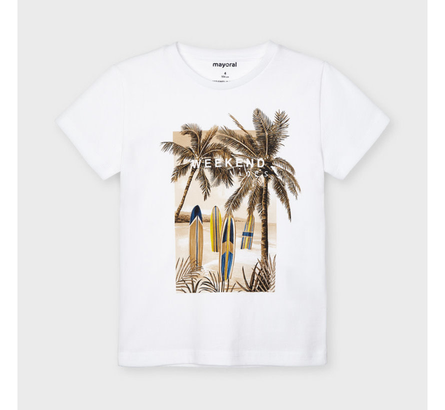 "3032 s/s t-shirt ""weekend vibes"""