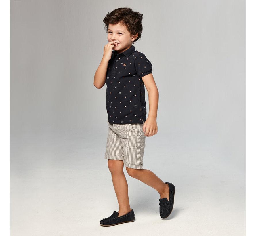 3229 striped bermuda shorts
