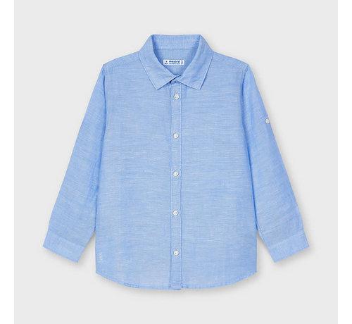 Mayoral 141 basic linen l/s shirt