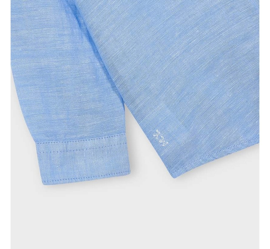 141 basic linen l/s shirt