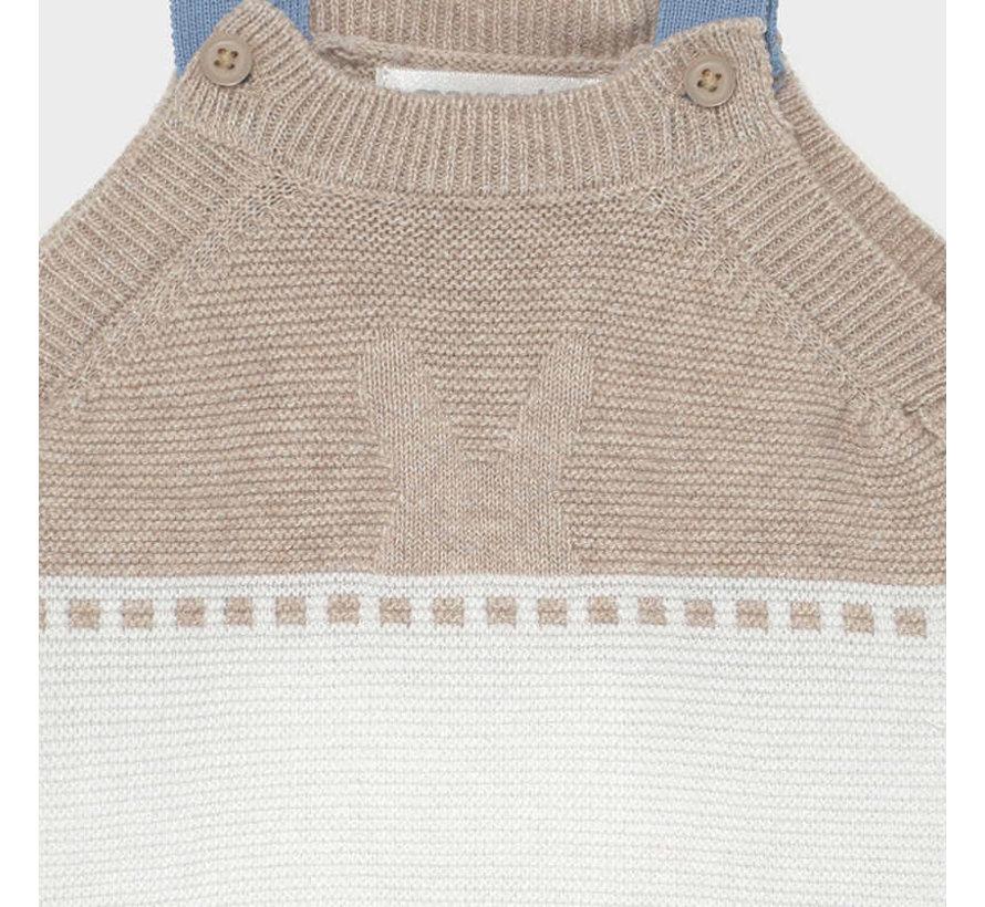 1638 knit dungarees set
