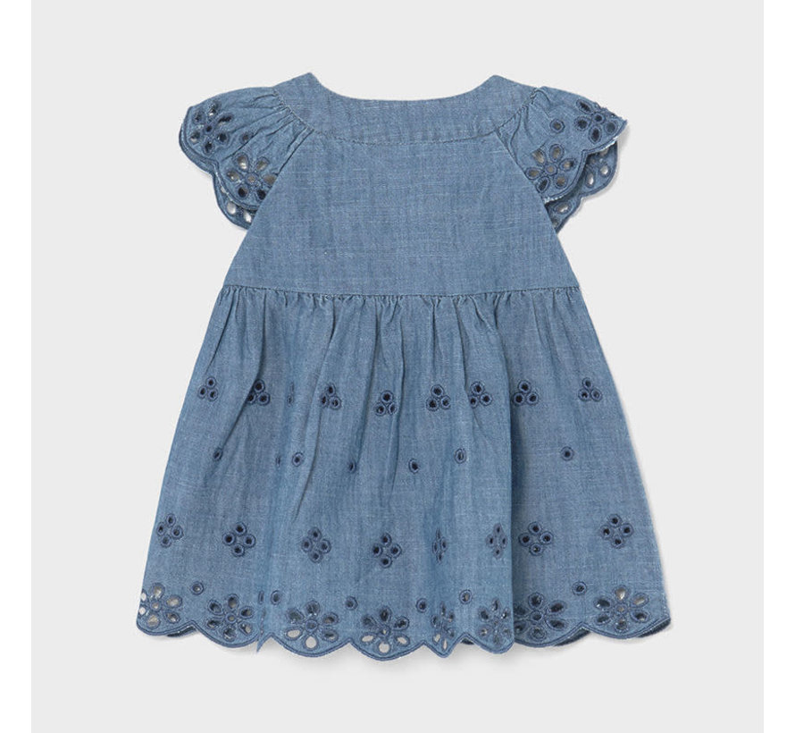 1810 denim eyelet dress