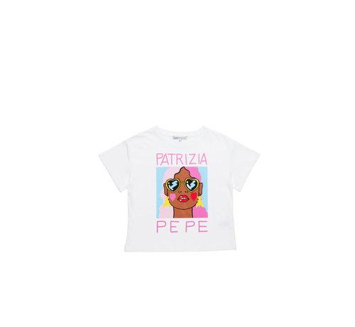 "Patrizia pepe TE36-1228 t-shirt ""face"""