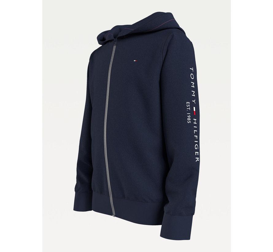 essential hooded zip through