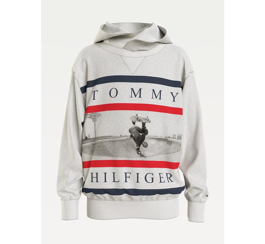 Colorblock photoprint hoodie