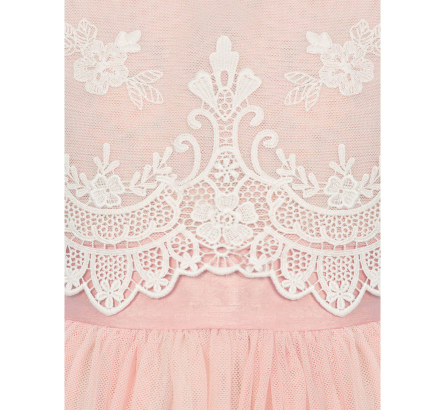 5015 embroidered tulle dress