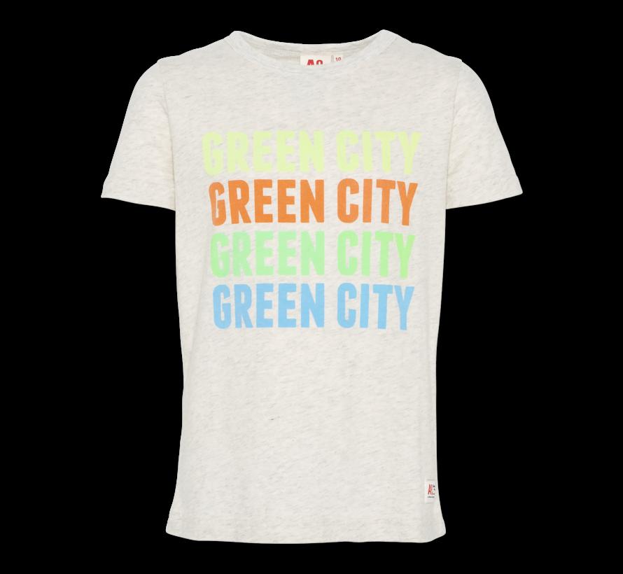 t-shirt c-neck green