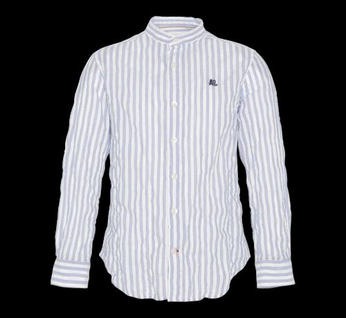 Ao76 blue stripe mao shirt