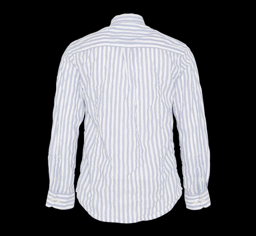 blue stripe mao shirt